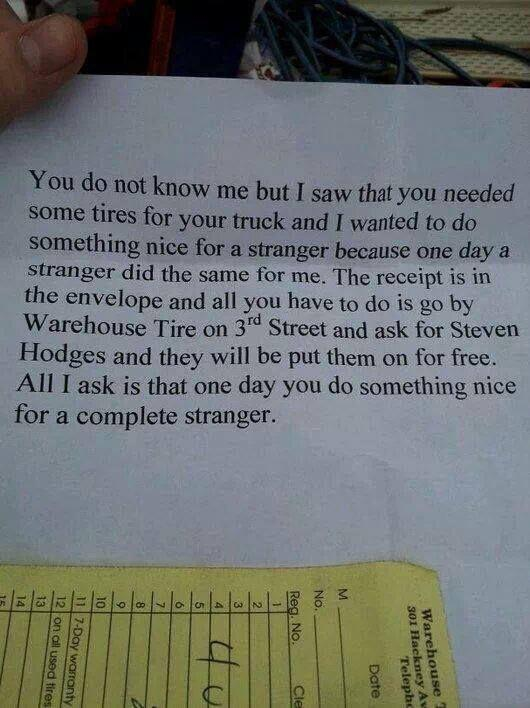 Pass it on, pay it forward